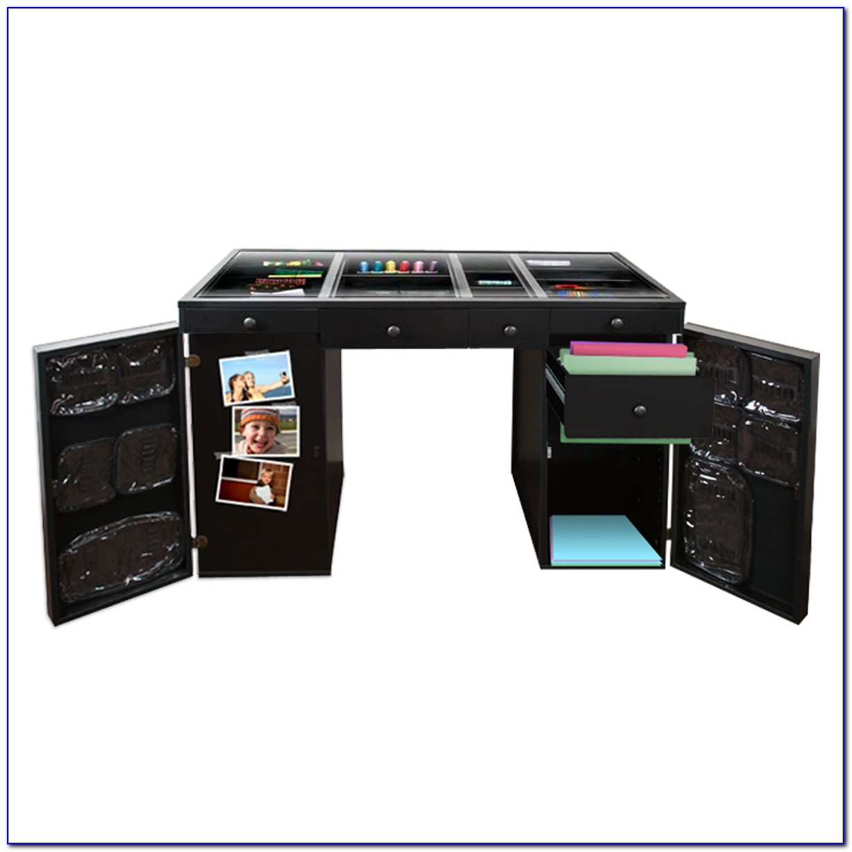 Scrapbox Ez View Craft Desk Black