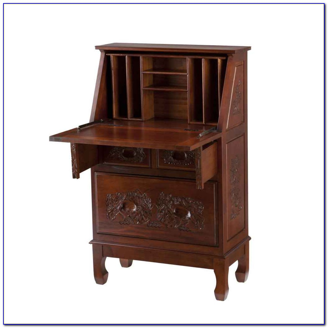 Secretary Desk With Hutch Antique