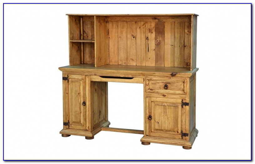 Secretary Desk With Hutch Rustic
