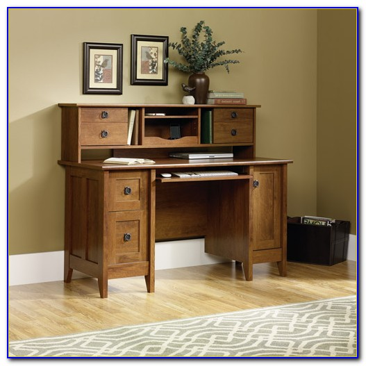 Small Desk With Locking File Drawer