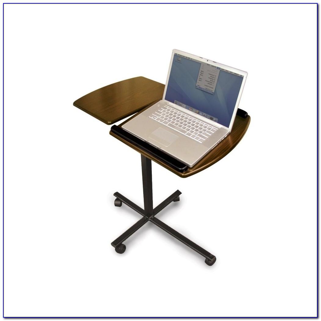 Speedy Stand Up Desk Portable Desk Walnut