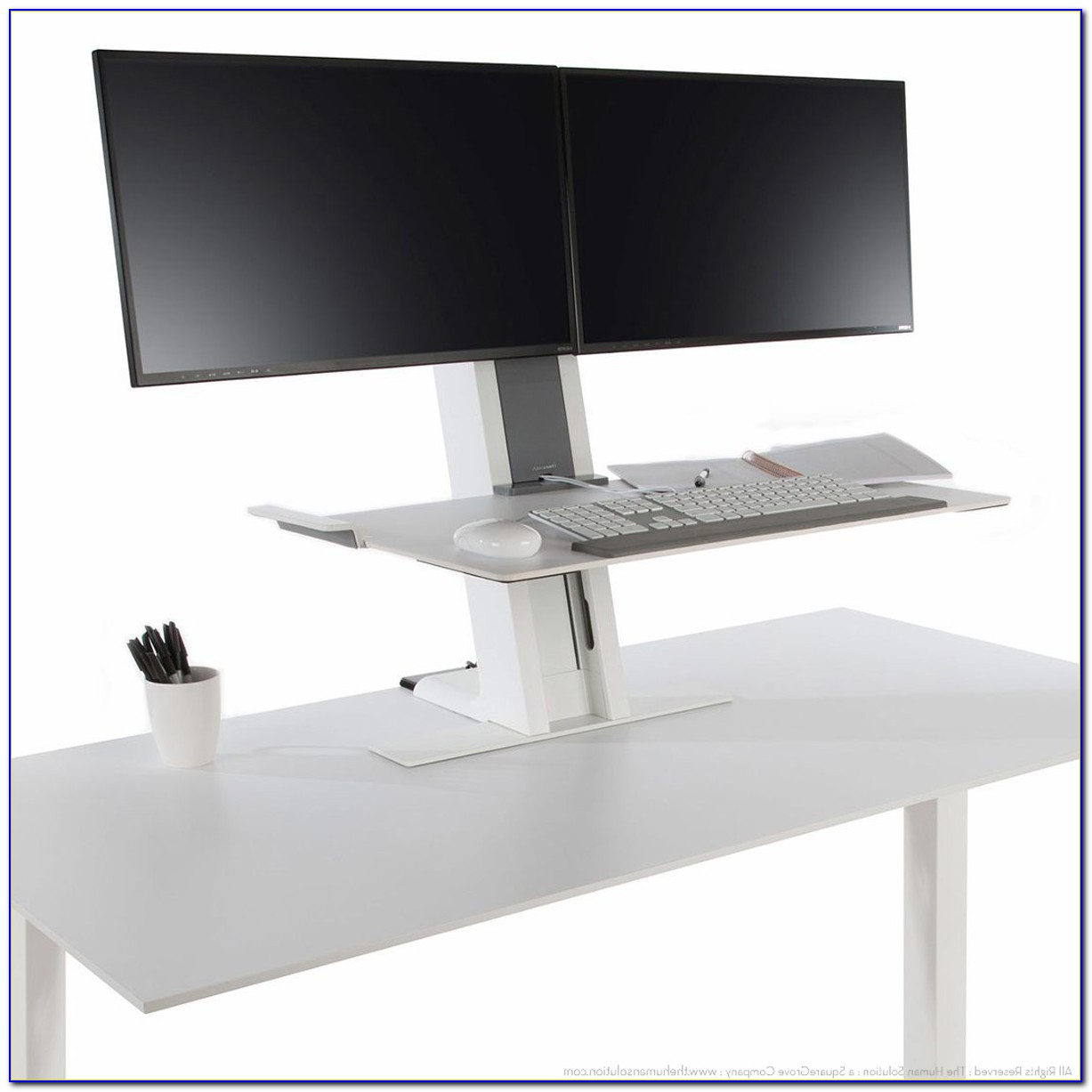 Standing Desk Converter Dual Monitor