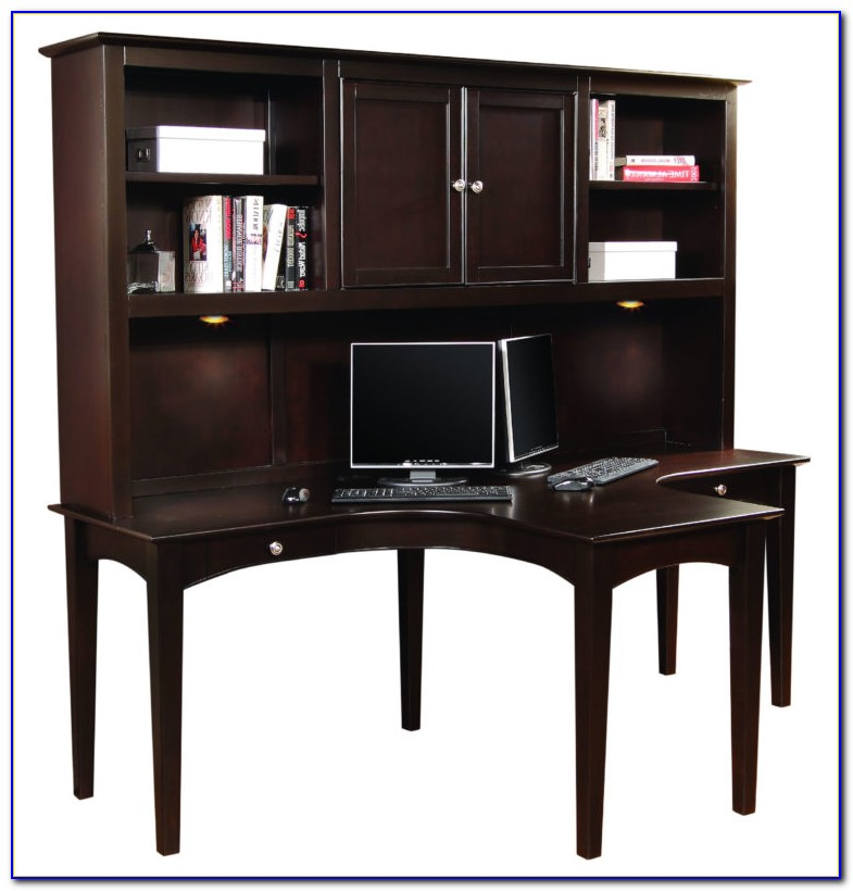 T Shaped Desk With Hutch