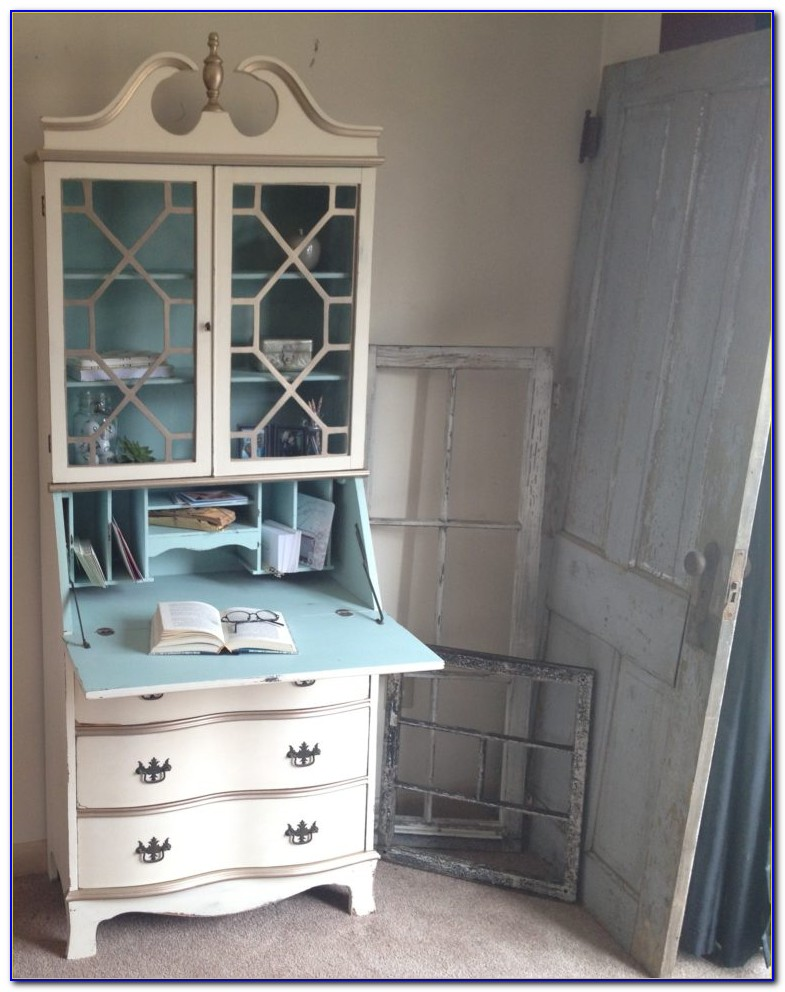 Tall Secretary Desk With Hutch