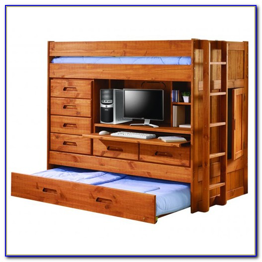 Trundle Bunk Bed With Desk