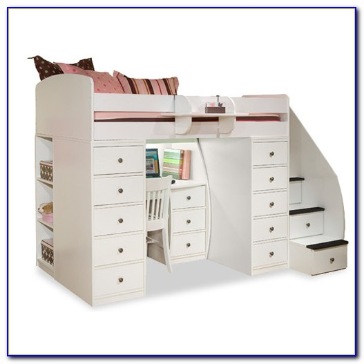 Twin Bunk Bed With Desk Underneath