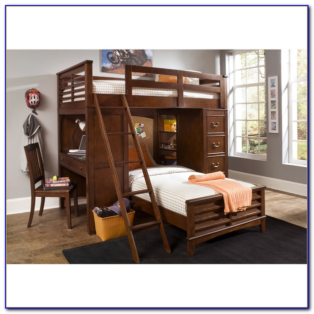 Twin Full Bunk Beds With Desk