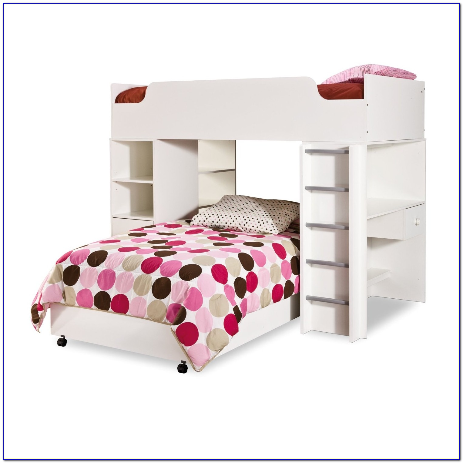 Twin Loft Bed With Desk And Stairs