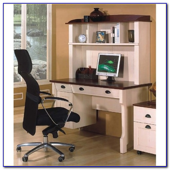 White Home Office Desks With Hutch