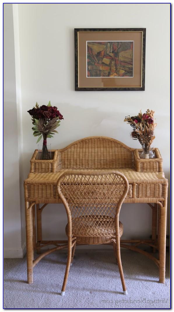 Wicker Desk Chair With Wheels