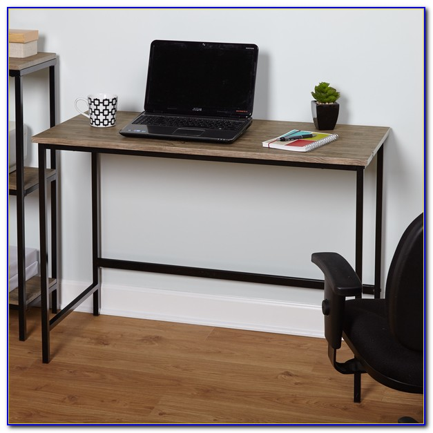 Wood And Metal Desk Table
