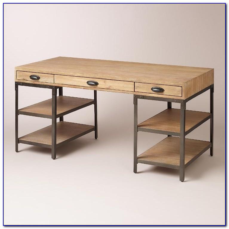 Wood And Metal Desks