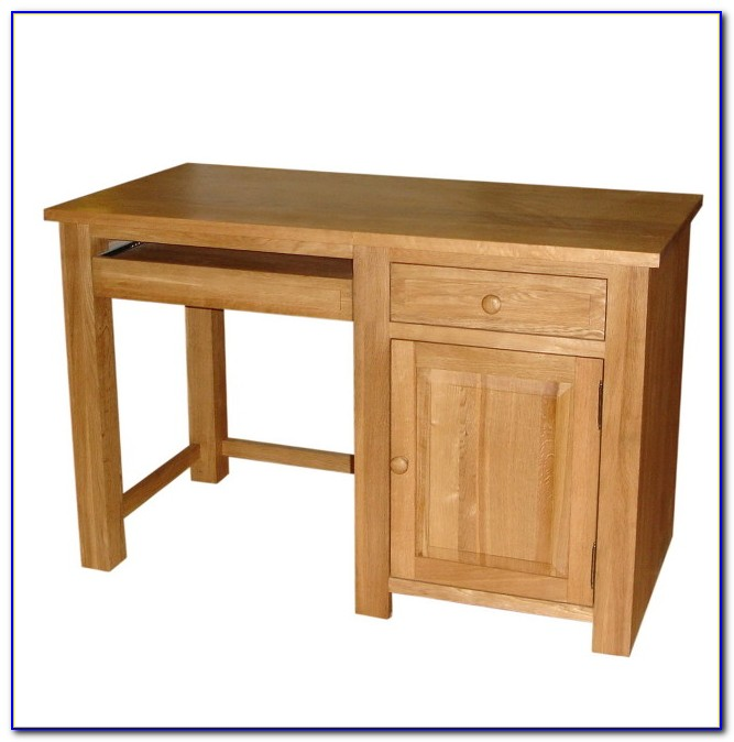 Wooden Desk With File Drawers