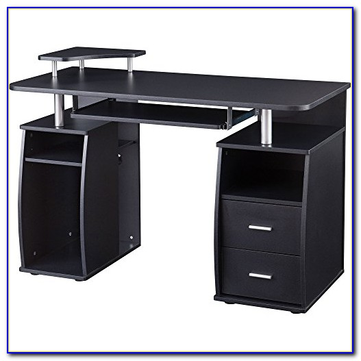Writing Desk With Drawers And Shelves