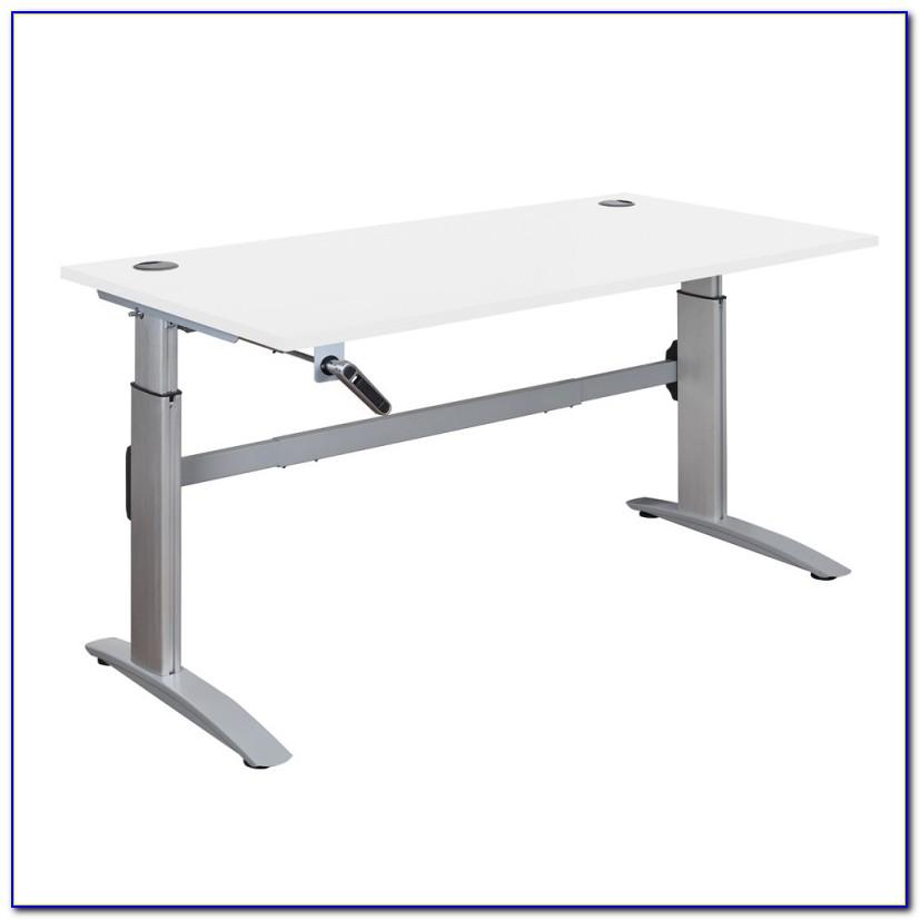 Adjustable Height Hand Crank Desk Frame
