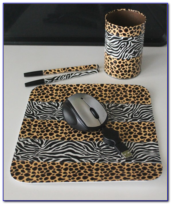 Animal Print Office Accessories