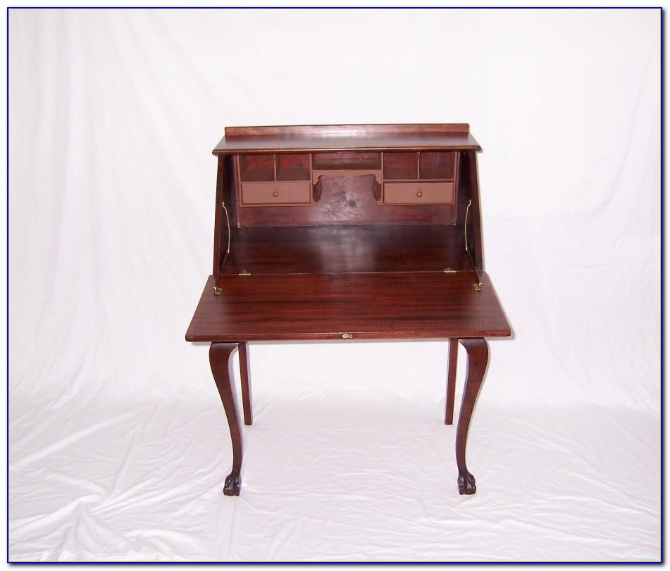 Antique Desk With Drop Down Front