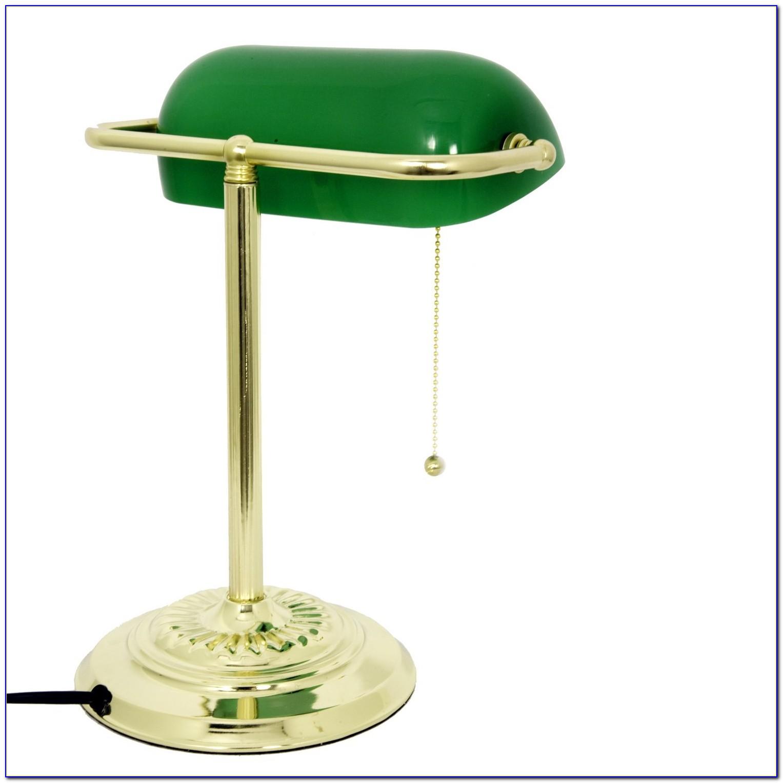 Antique Green Bankers Desk Lamp