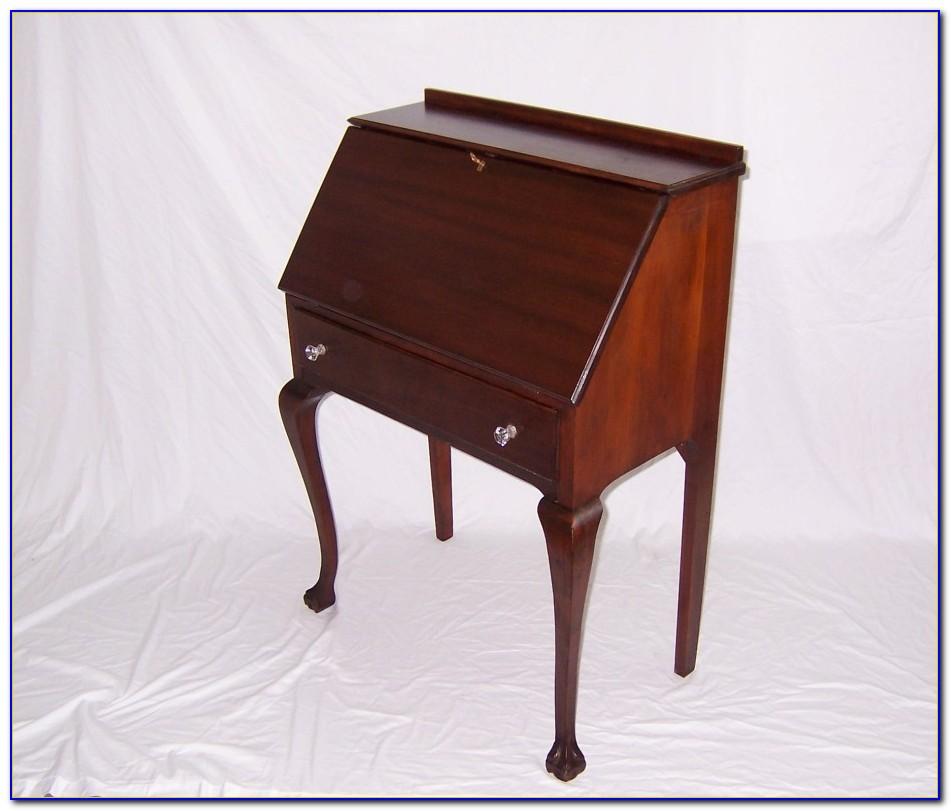 Antique Oak Drop Down Desk