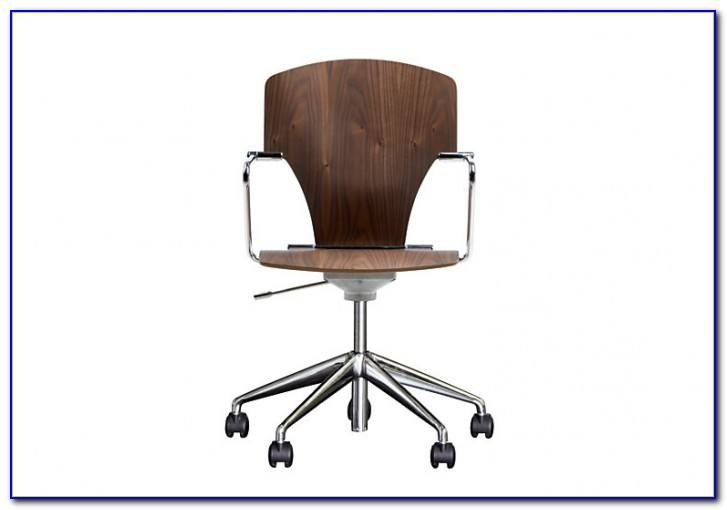 Antique Wooden Rolling Desk Chair