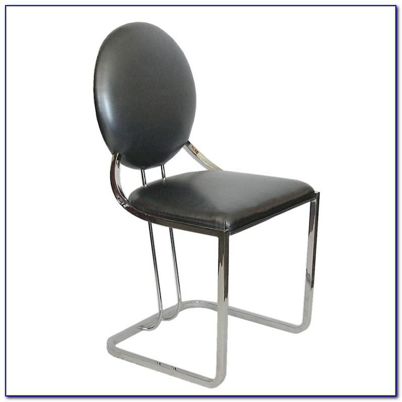Armless Executive Leather Desk Chair