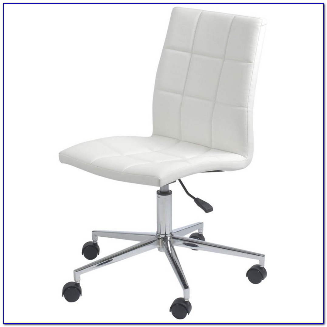 Armless Swivel Office Chair