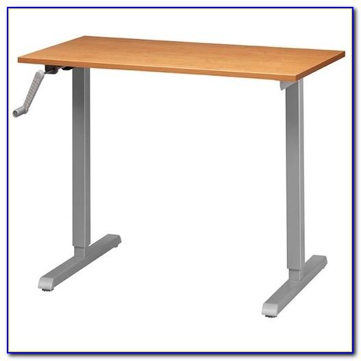 Axis Height Adjustable Crank Desk