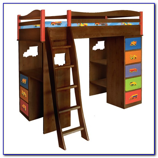 Boys Bunk Bed With Desk