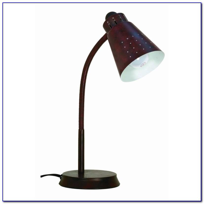 Brass Gooseneck Desk Lamp