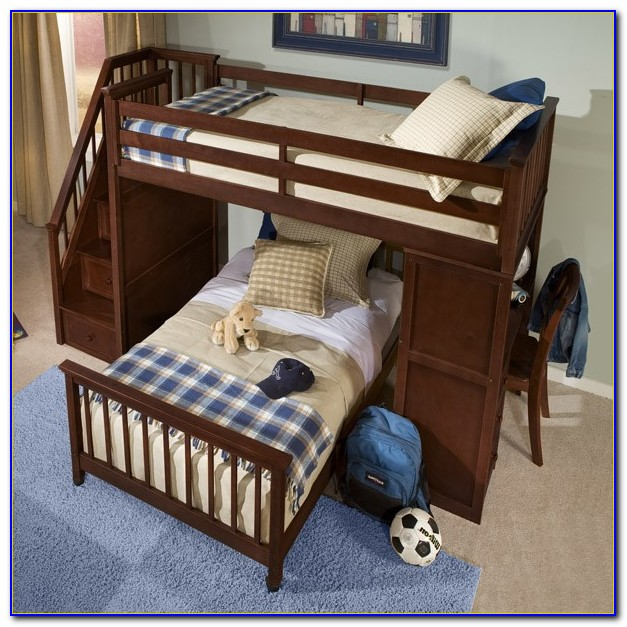 Bunk Beds Twin Over Full With Stairs And Desk