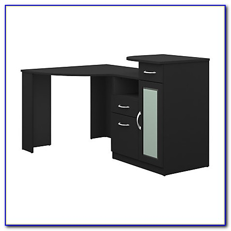 Bush Furniture Vantage Corner Desk Black