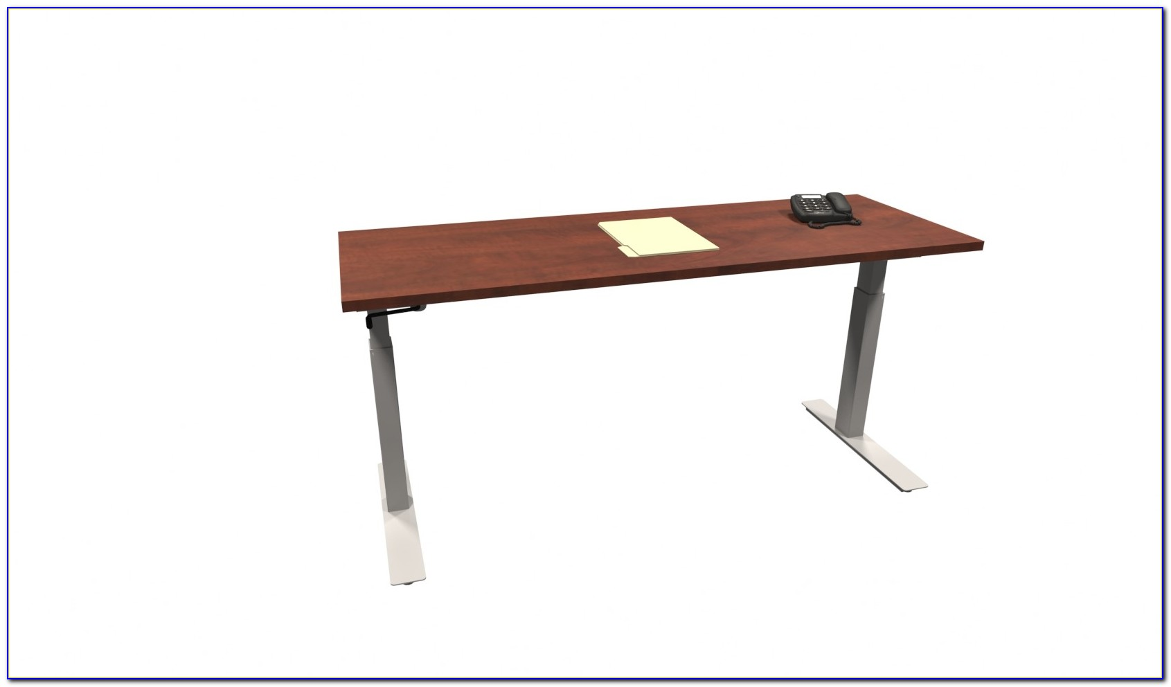 Canary Products Modern Height Adjustable Crank Desk Solid