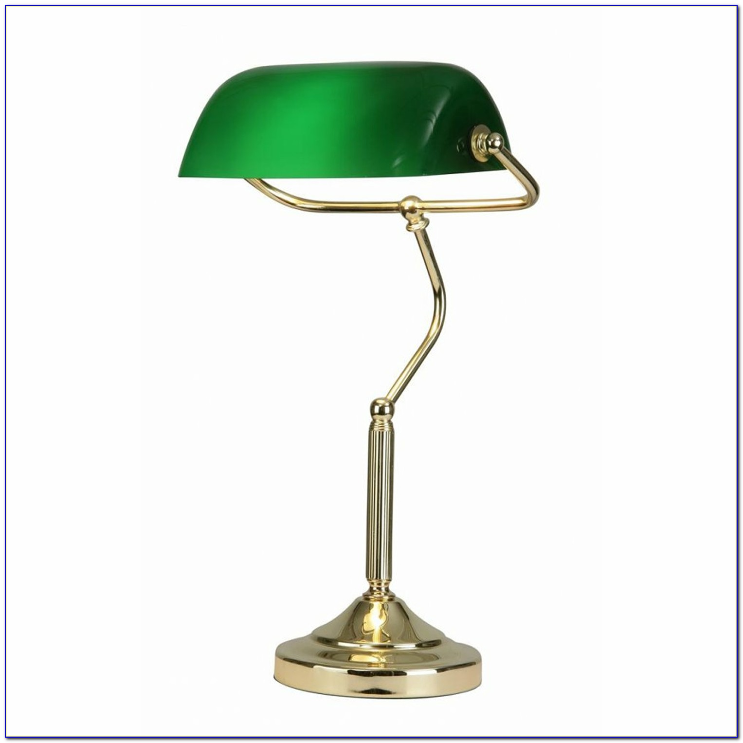 Classic Green Bankers Table Lamp