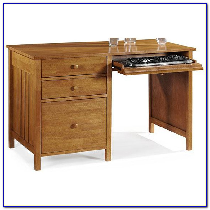 Compact Computer Desk With File Drawer