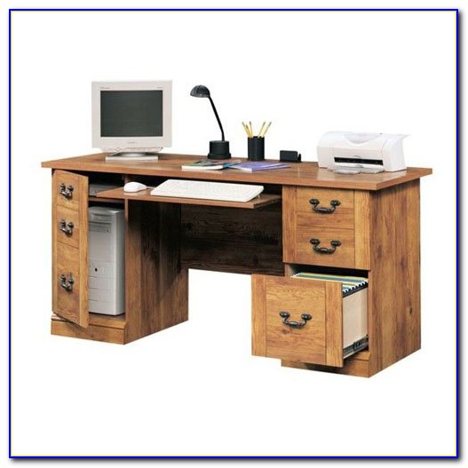 Computer Desk With File Drawer And Hutch