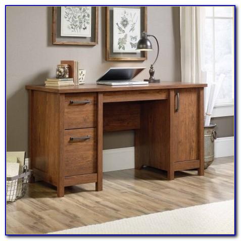 Corner Computer Desk In Cinnamon Cherry Finish