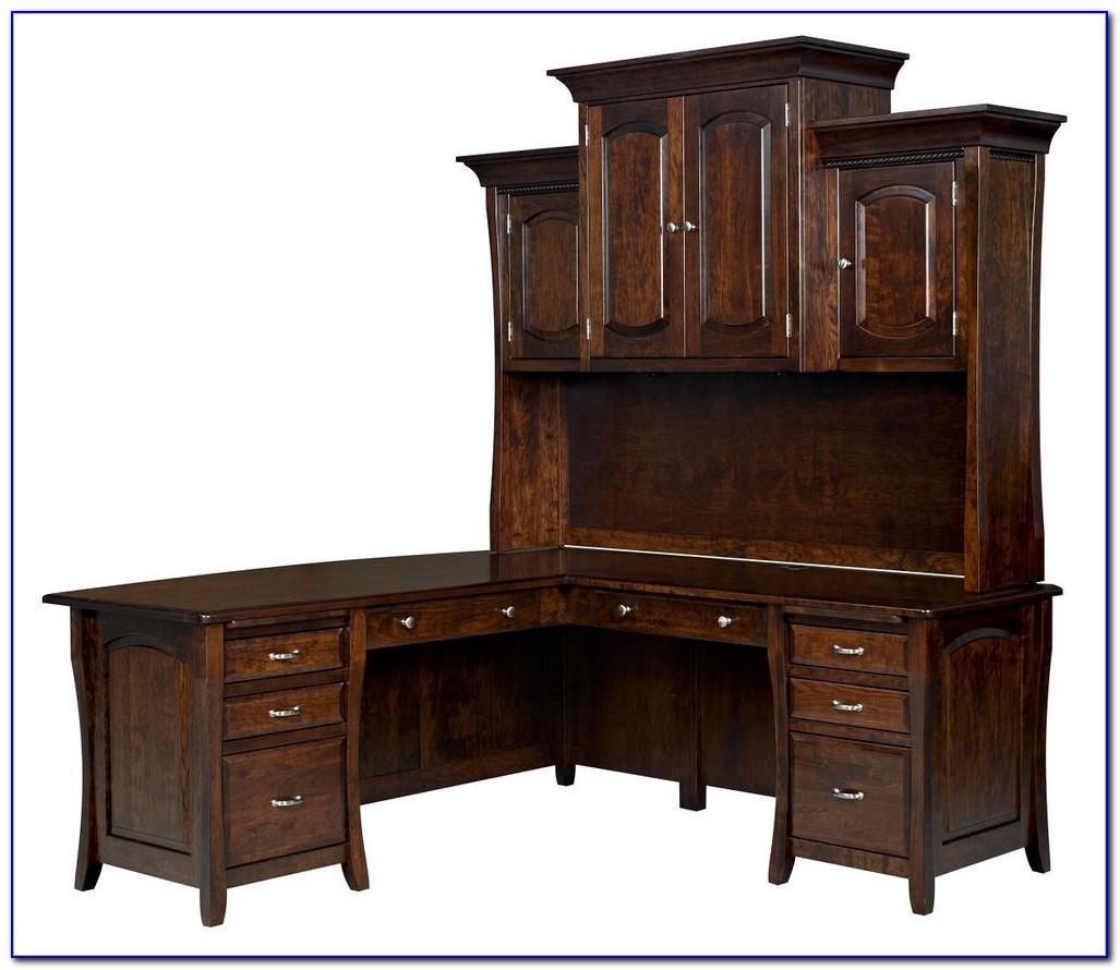 Corner Writing Desk Solid Wood