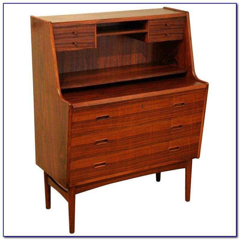 Danish Modern Rosewood Secretary Desk