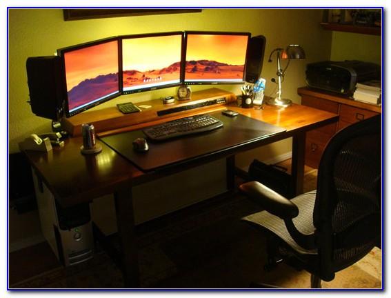 Desk For Three Monitors