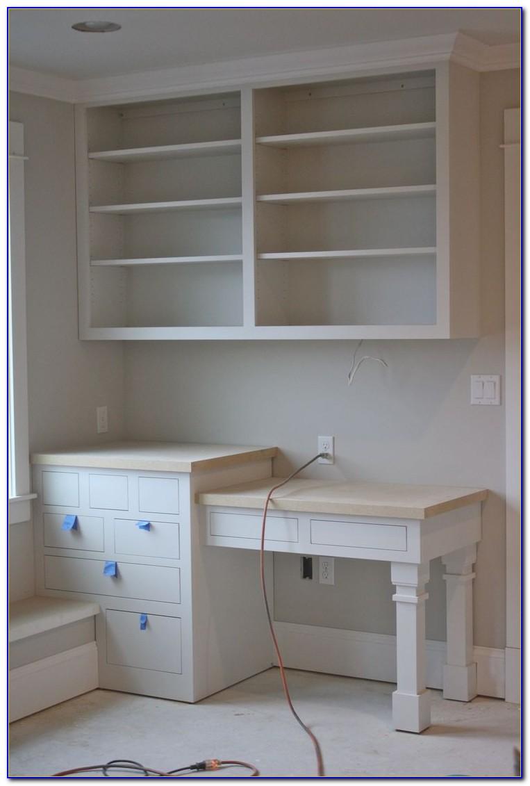 Diy Built In Desk And Bookshelves
