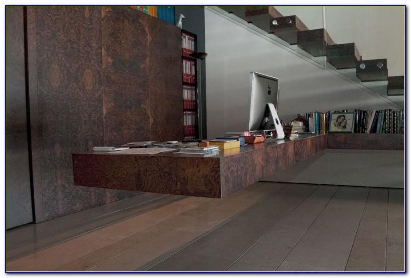 Diy Floating Desk And Shelves