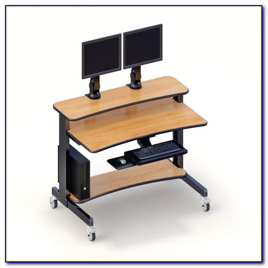 Double Computer Monitor Desk Stand