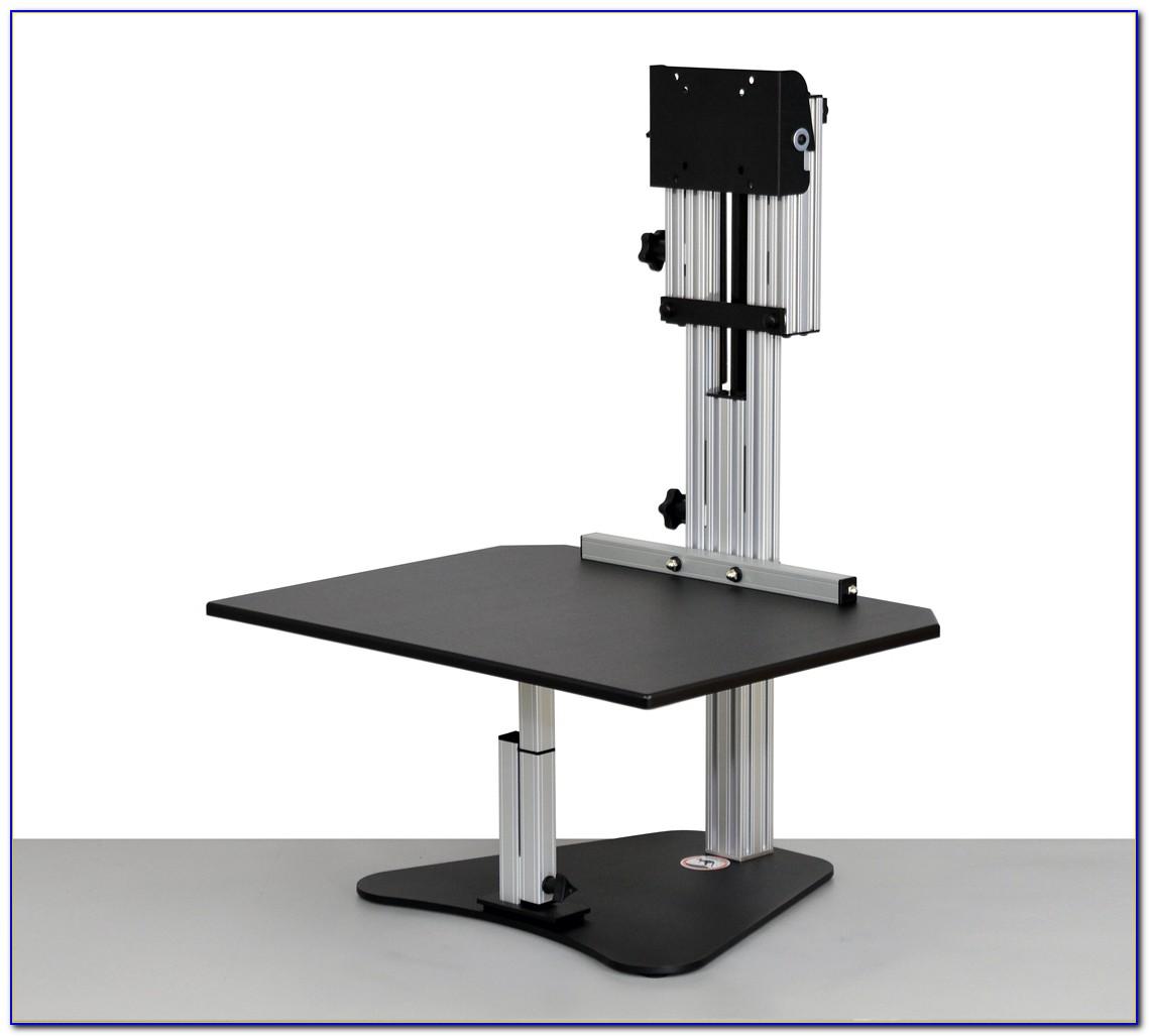 Dual Kangaroo Free Standing Adjustable Height Desk Unit