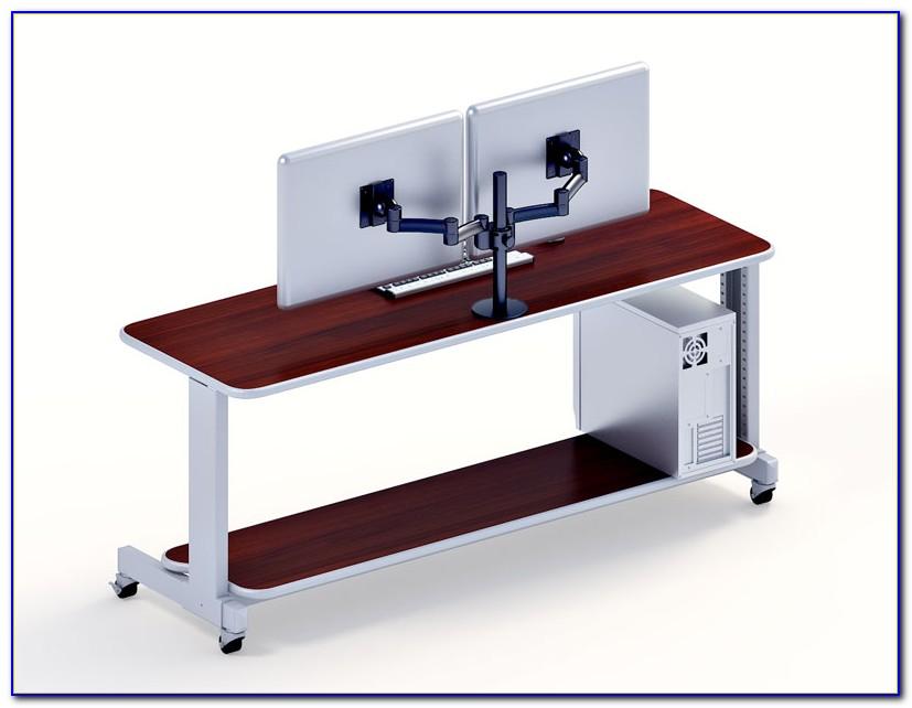 Dual Screen Computer Desk