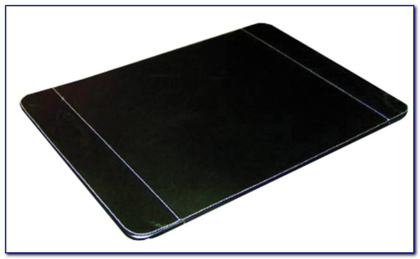 Genuine Leather Desk Blotter Black