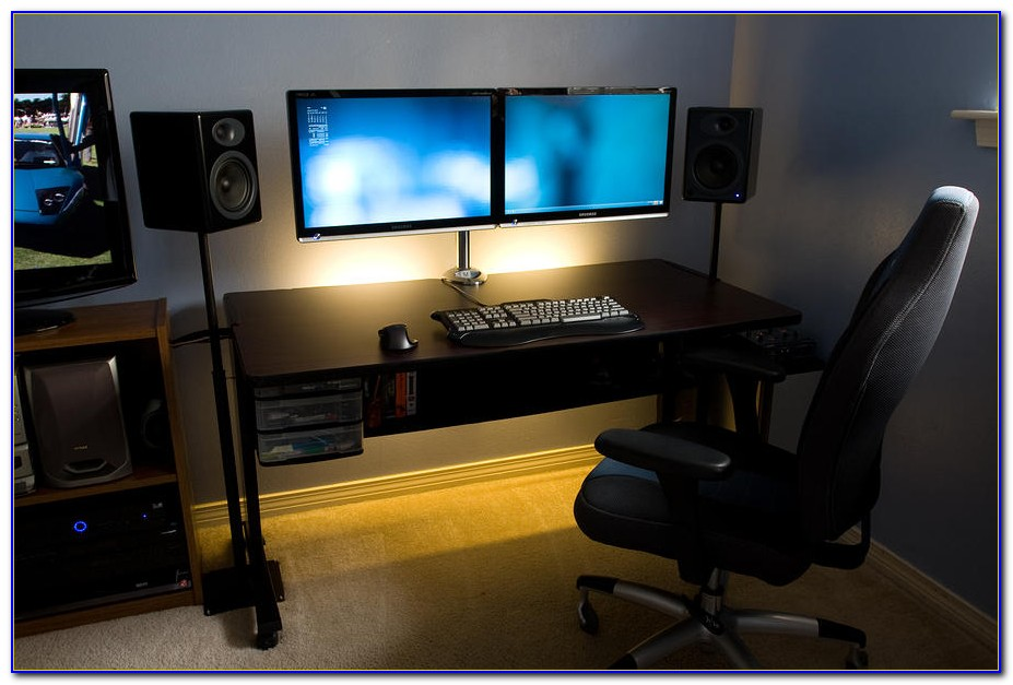 Good Computer Desk For Dual Monitors