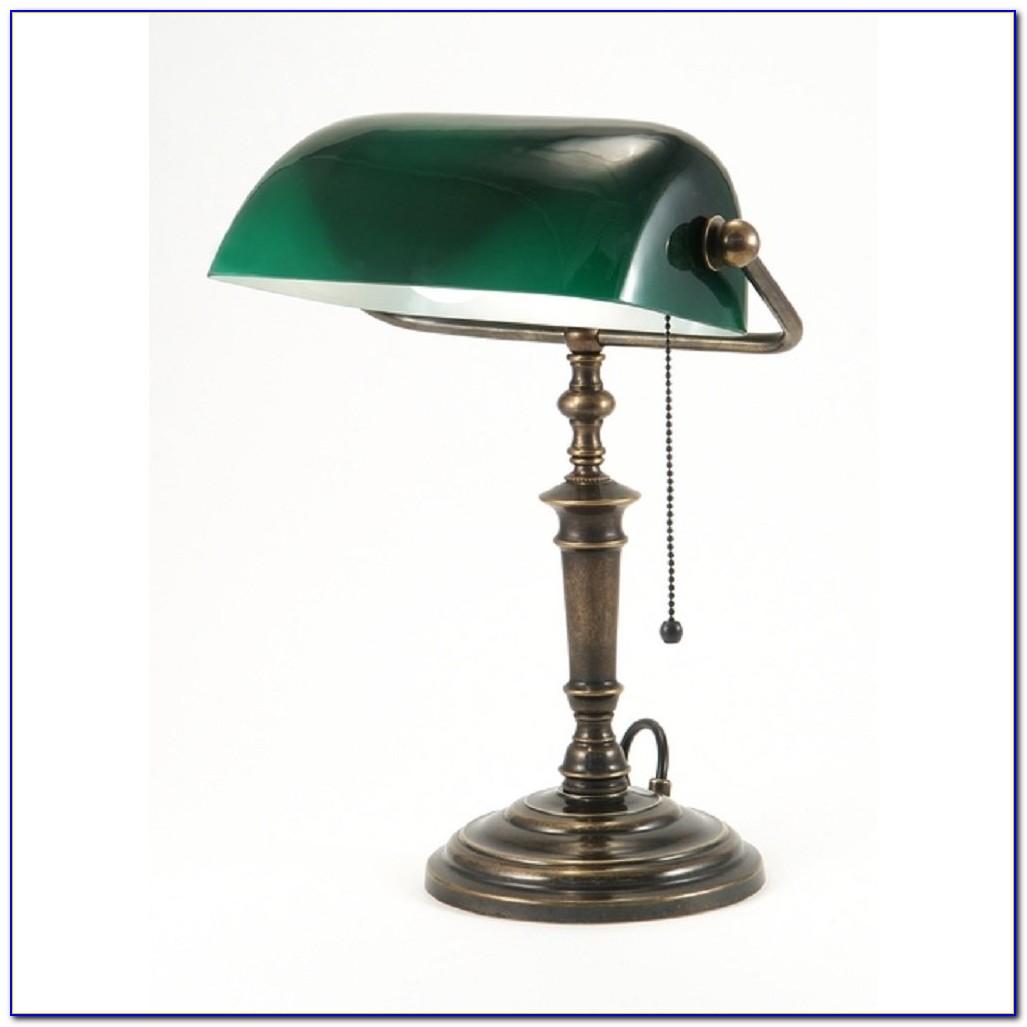 Green Bankers Desk Lamp Uk