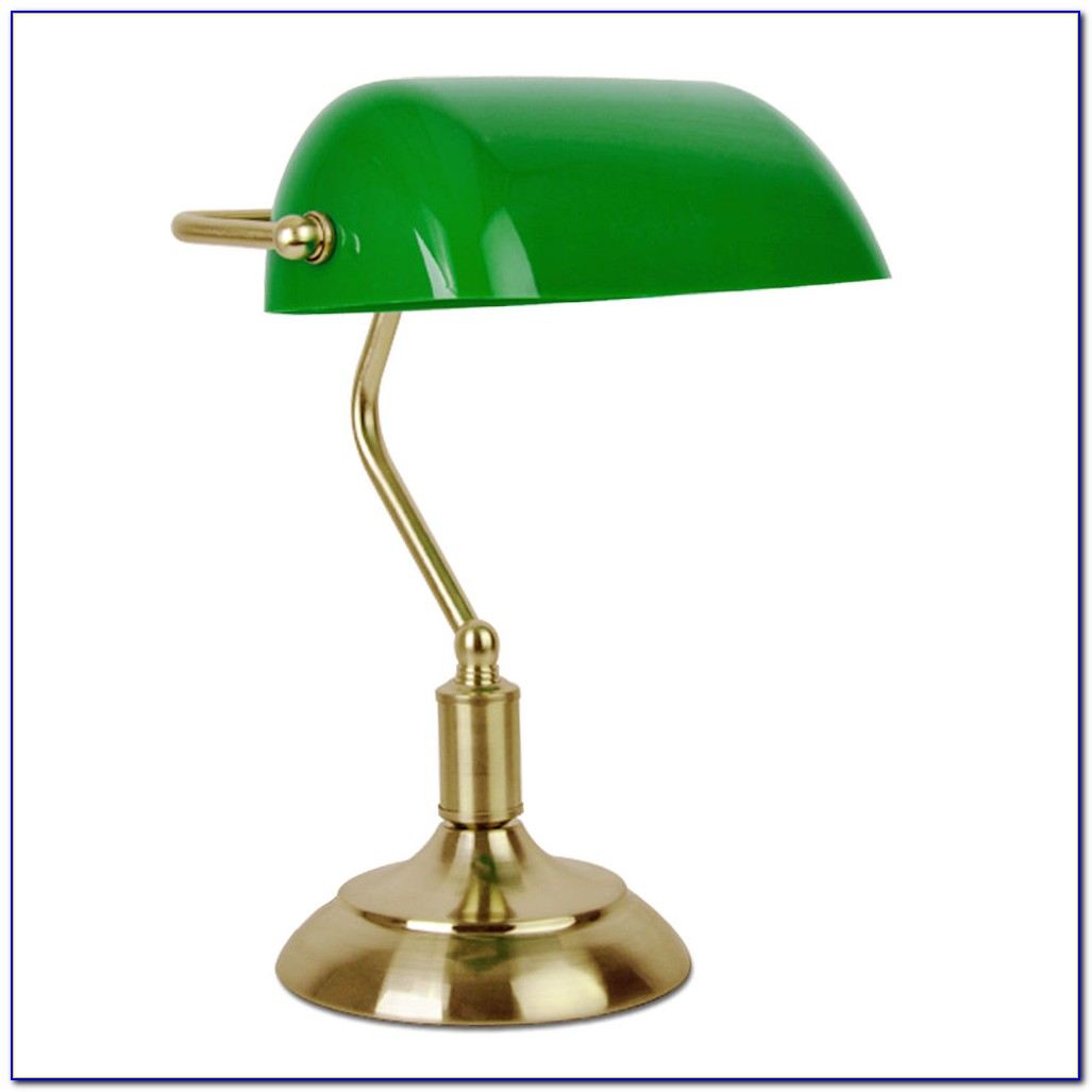 Green Bankers Table Lamp