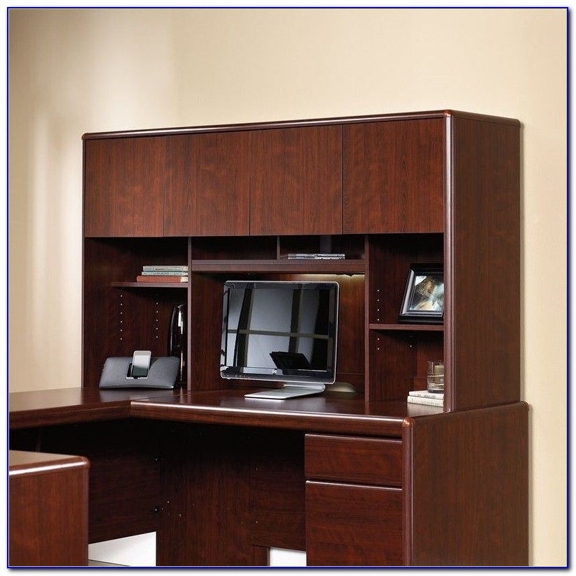 Harbor View Sauder Desk And Hutch