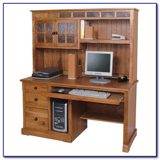 Home Office Computer Desk And Hutch